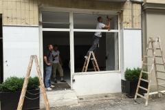 Abriss altes Fenster