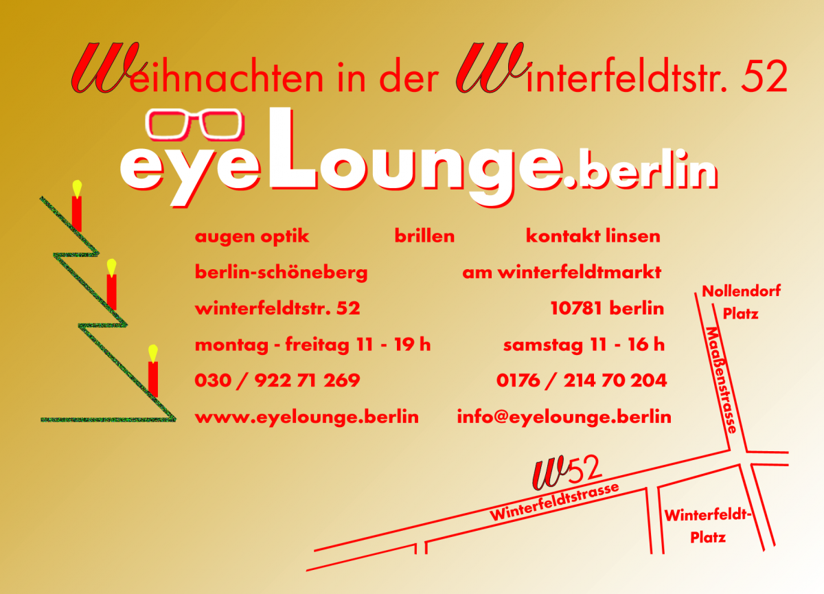 Adventszeit in der eyeLounge.berlin !